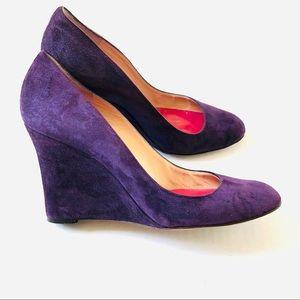 """Kate Spade Purple Suede 3"""" Wedge Heel Shoes"""